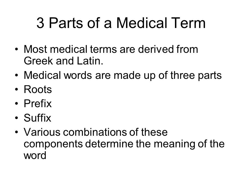 Medical Terms From Latin