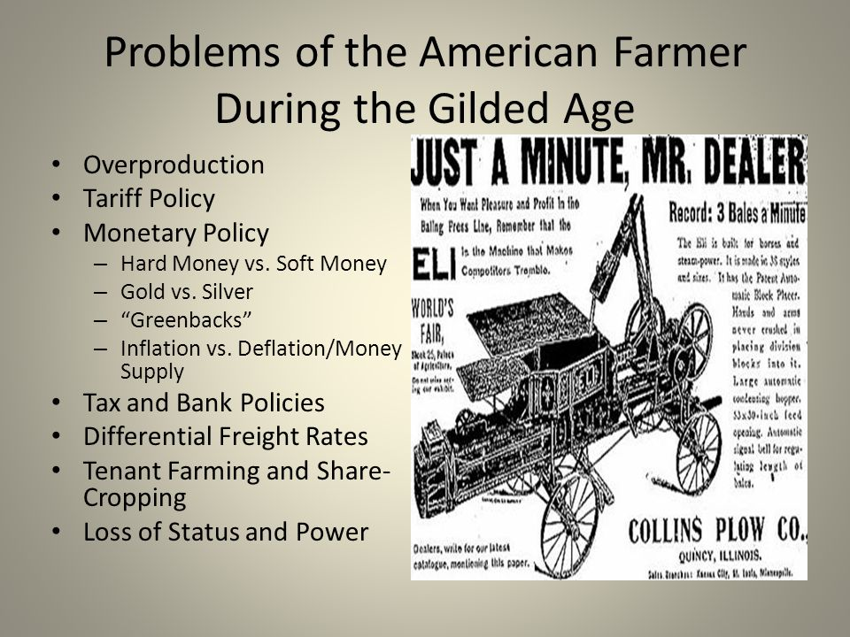 Agricultural Problems and Gilded Age Politics - ppt download