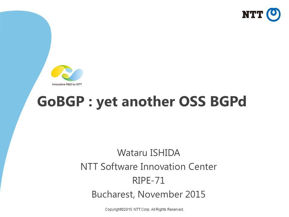 GoBGP Open Source BGP implementation https://github com/osrg/gobgp