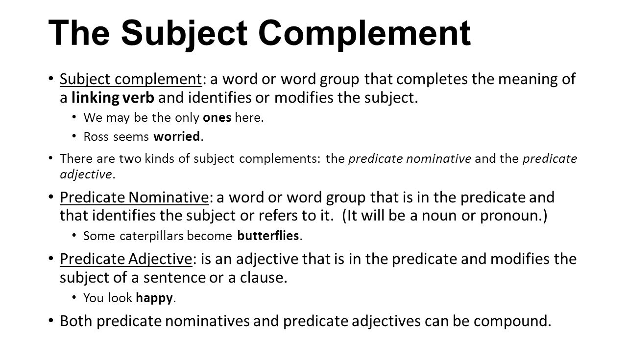 What is a compound predicate nominative?