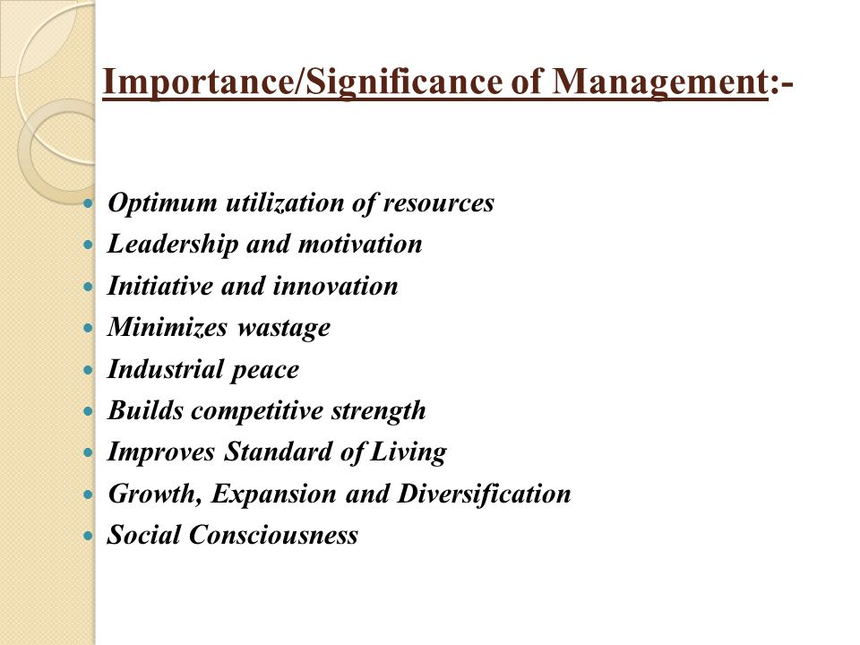 importance of leadership in management pdf
