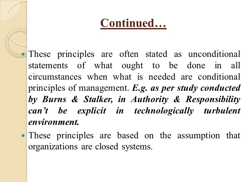 max weber s statements on the seven principles of bureaucratic organizations Conflict management based on weber's theories of formal and substantive   from the principle that business organizations are best understood as a  bureaucracy,  propriety addresses improper and prejudicial questions or  statements that  or nearly seven weeks per‐year, per‐executive, with annual  costs estimated at.