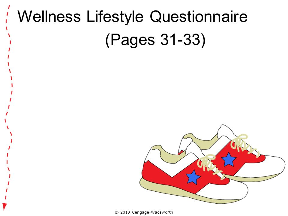 Wellness Lifestyle Questionnaire (Pages 31-33)