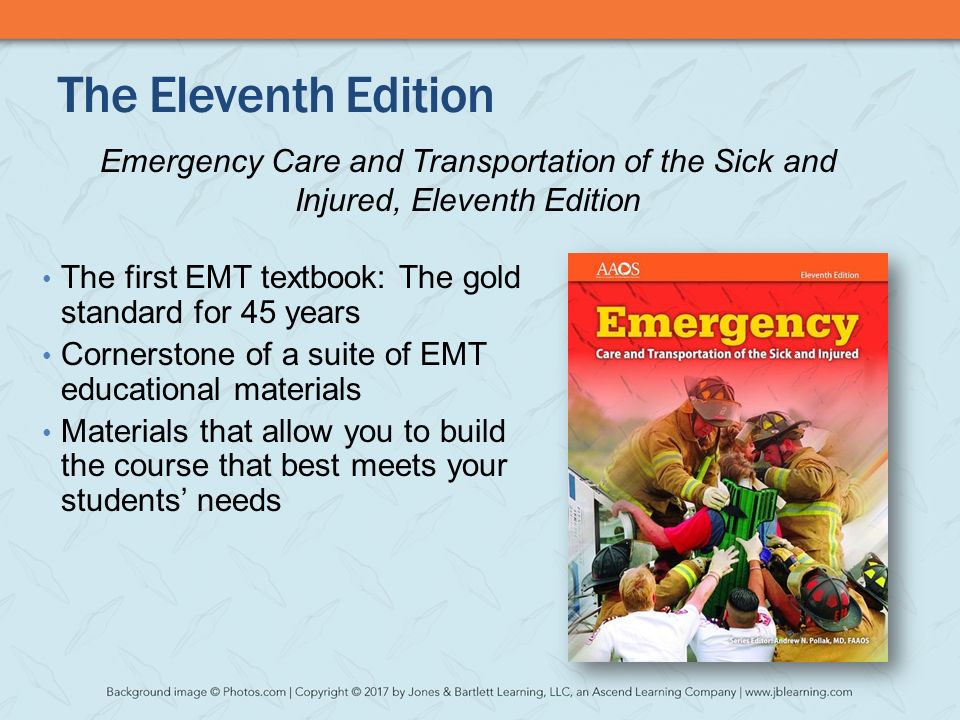 Welcome to the webinar introducing emergency care and the eleventh edition emergency care and transportation of the sick and injured eleventh edition fandeluxe Images