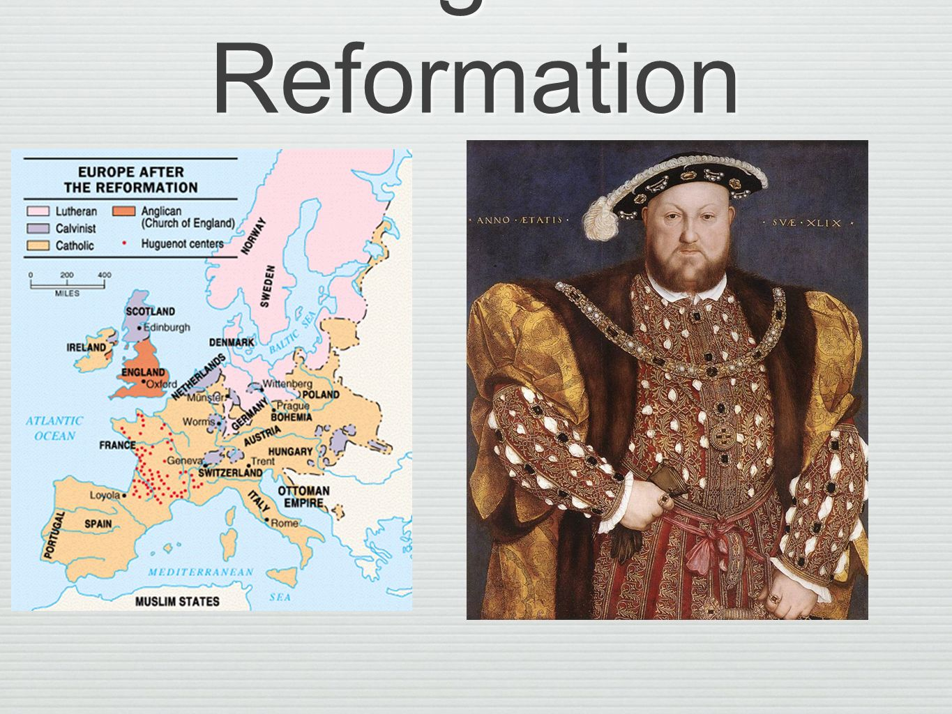 Impact of the english reformation and