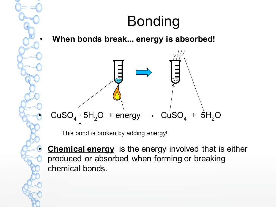 how to break chemical bonds