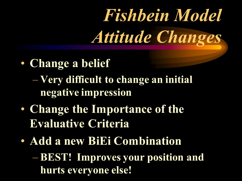 an analysis of the concept of persuasion and the behavior of of the reflected change in attitude This attitude should then be reflected in behavior:  and central to our self-concept,  and attitude change persuasion is an active method of influence.