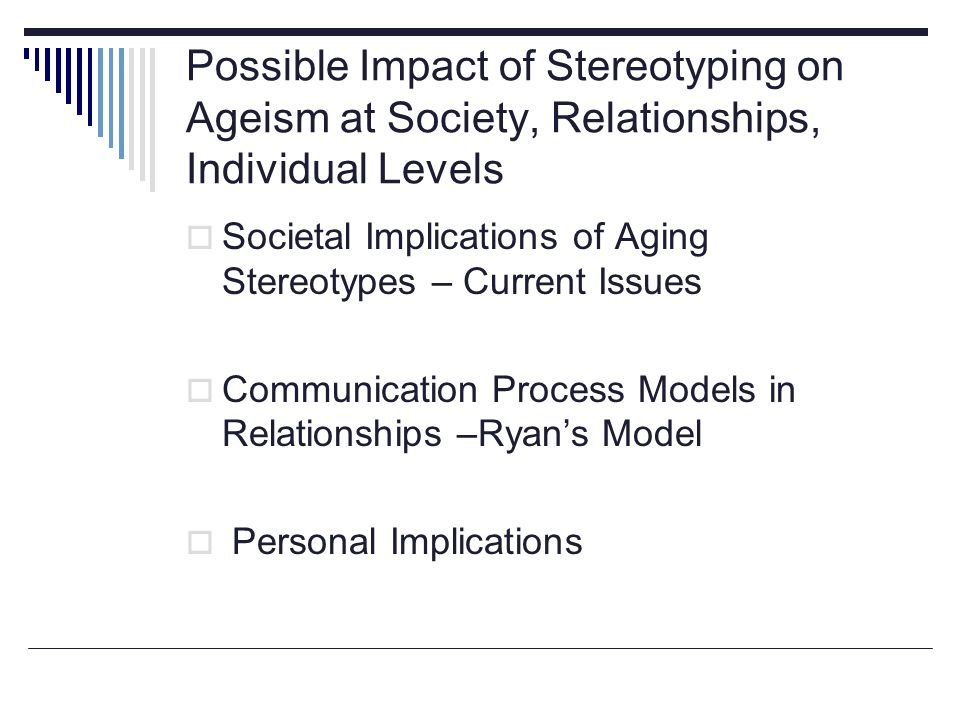ageism ppt Intersectionality 1 intersectionality intersectionality (or intersectionalism) is the study of intersections between different groups of minorities.
