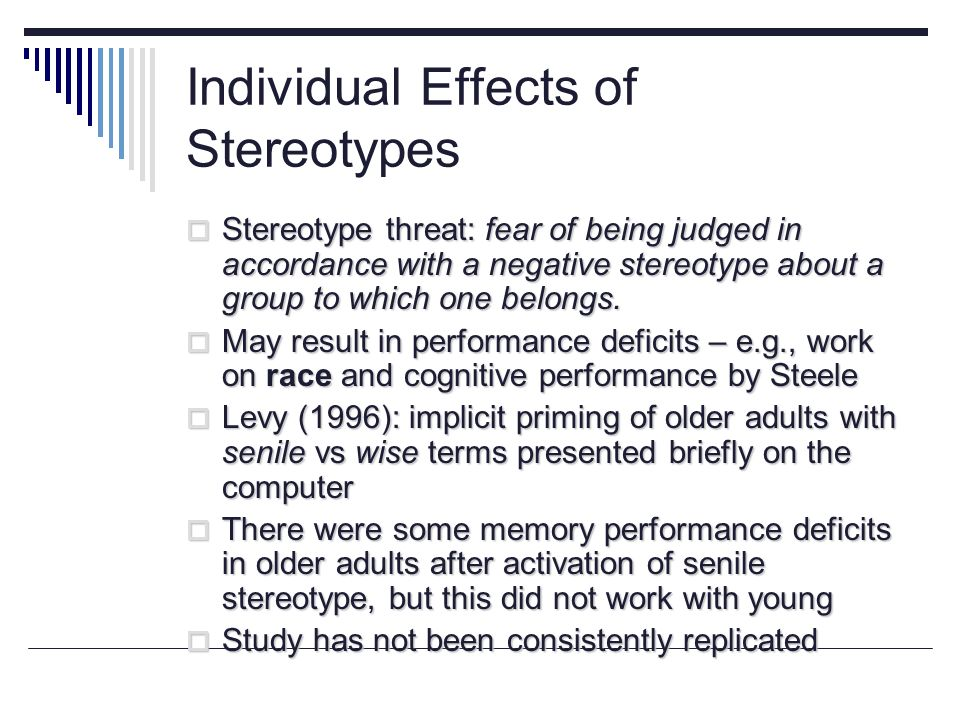 recognise the impact of prejudice stereotyping Both stereotypes and prejudice can be either positive or negative discrimination is an action that denies the rights of a person due to their membership in a group.