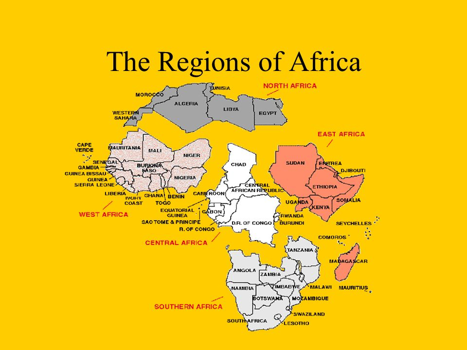 Introduction To Africa Ppt Download - Regions of africa