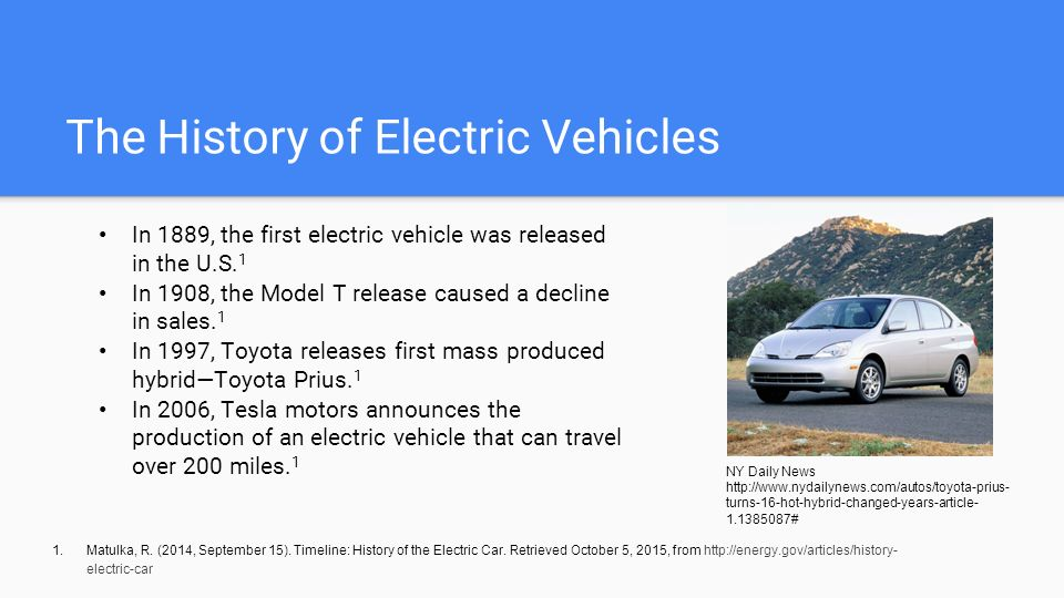 Images Of Electric Vehicles Timeline