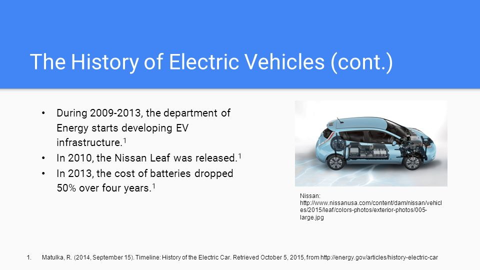 history of electric cars Years after doing little to keep electric car technology alive, the big three detroit automakers, with their livelihoods on the line, are pursuing them with a vengeance.