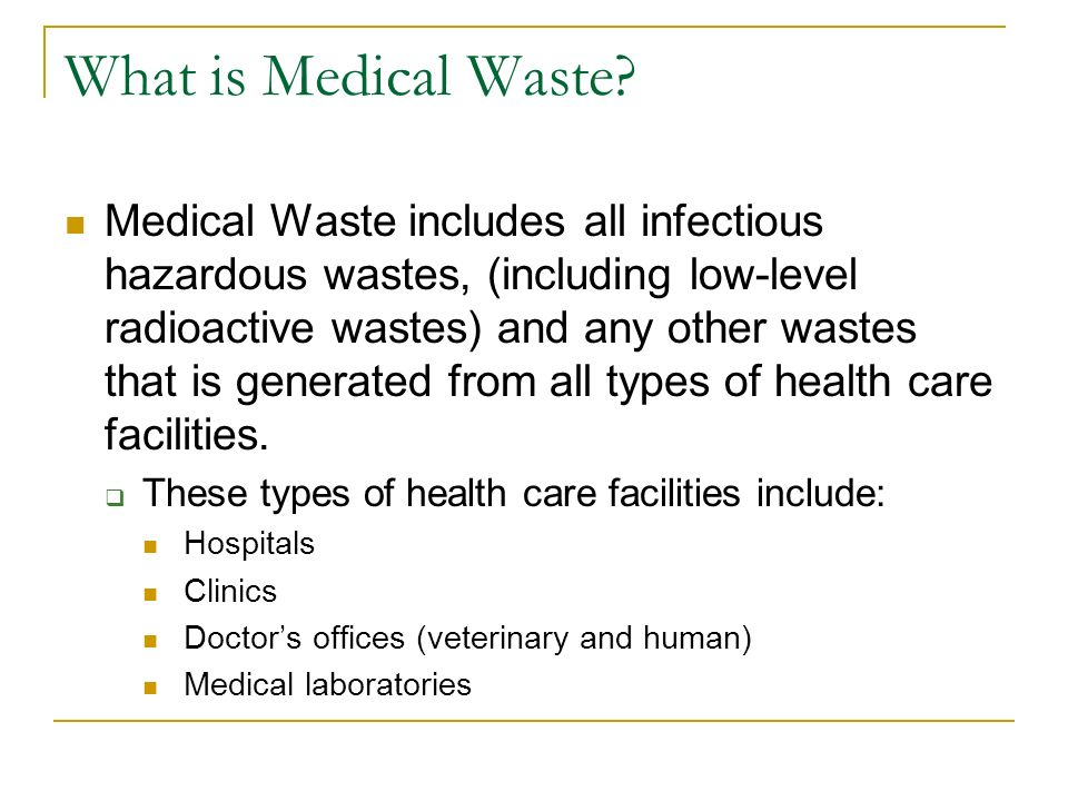 medical record and infectious waste Waste and non-infectious medical waste is not conducted according to  disposal of waste, failure to quantify the waste generated in reliable records, lack of use.