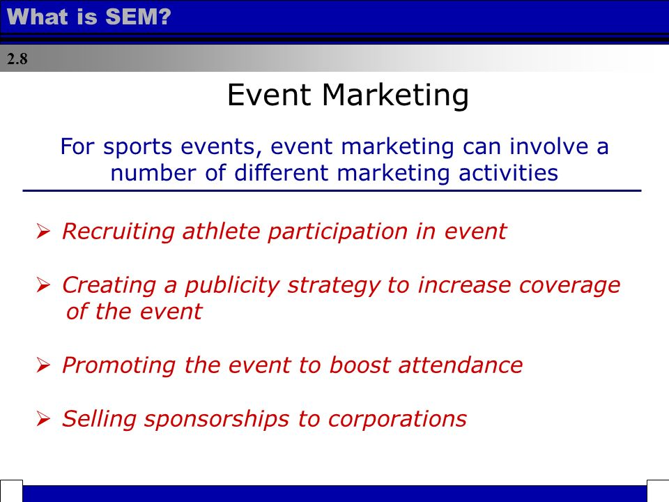marketing of sport events 1 what is sports marketing 2 what are the skills to have a successful career in sports marketing 3 what positions are available in sports marketing.