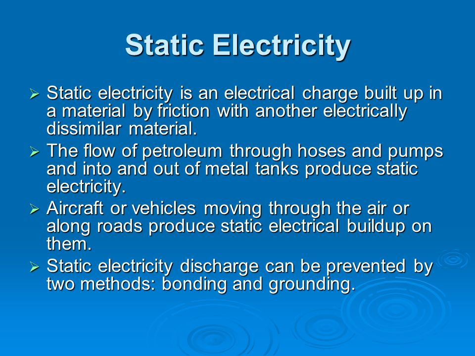 Static Electricity Discharge Methods