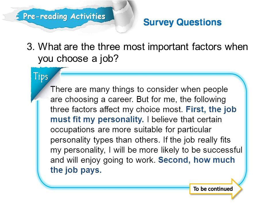 5 Factors to Consider when Choosing a Career