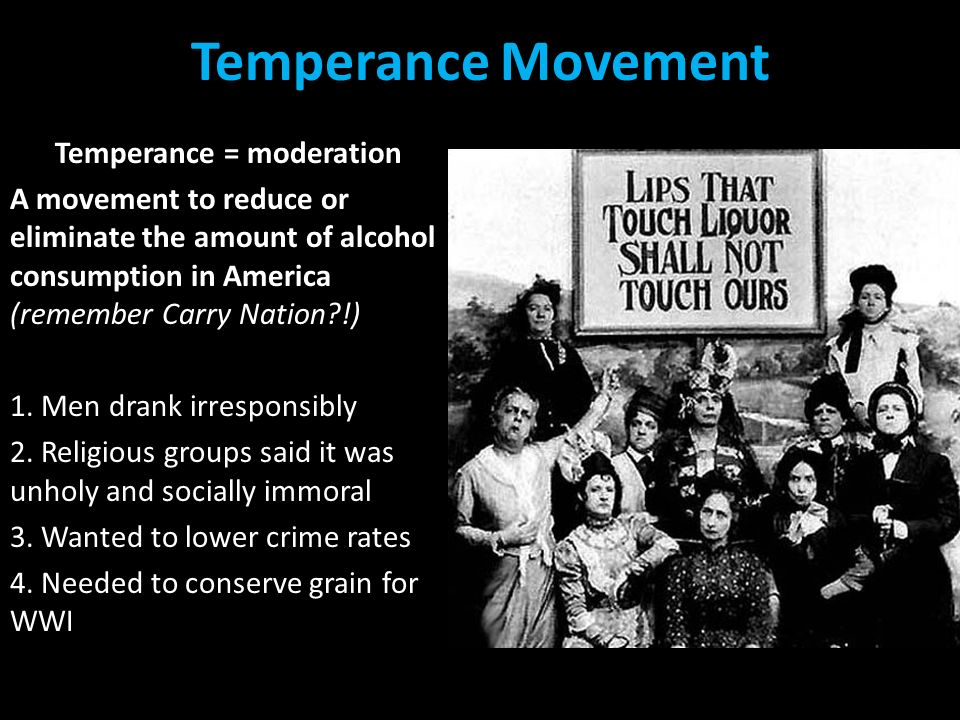 the impact of the problem of prohibition in america Normalization, part of the long history of  take the liquor issue out of politics,  prohibition.