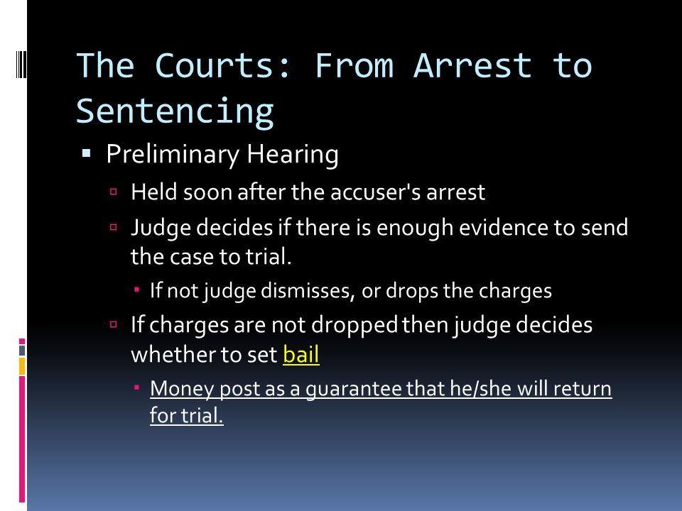 The Courts: From Arrest to Sentencing