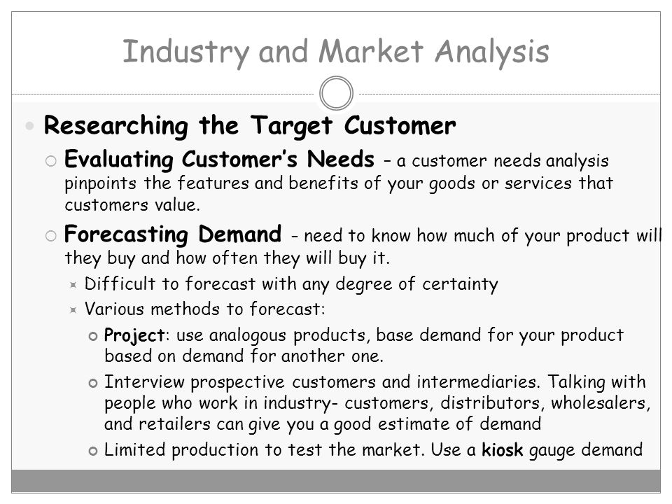 Market Analysis Chapter Ppt Video Online Download
