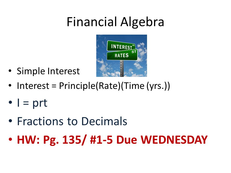 Mrs Starbuck Room 323 Welcome to Financial Algebra ppt download – I Prt Worksheet