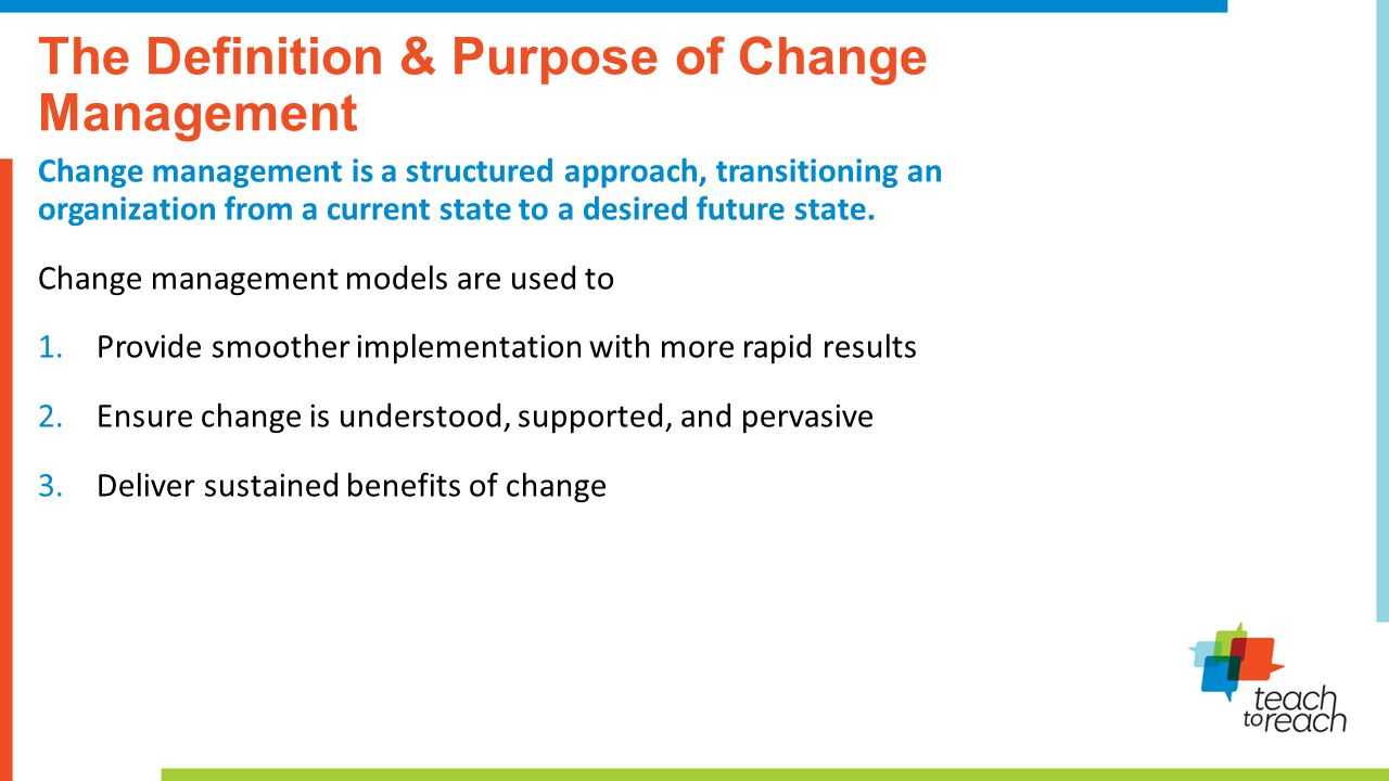 Change management presentation and panel discussion ppt video 3 the definition 1betcityfo Images