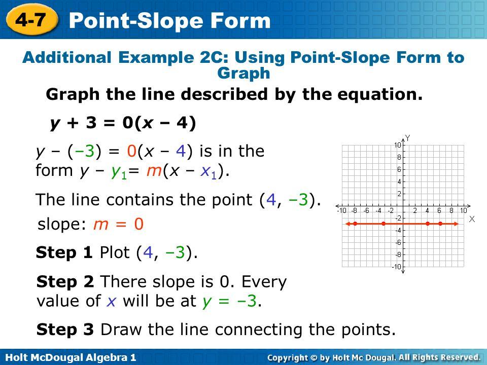 Point Slope Form 4 7 Warm Up Lesson Presentation Lesson Quiz Ppt
