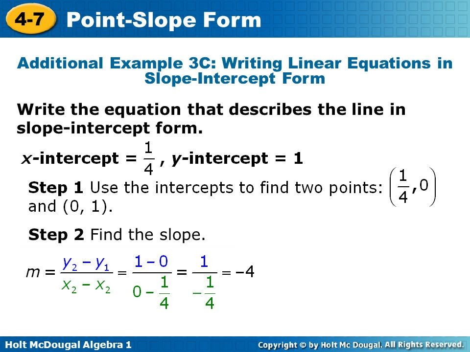 writing equations in slope intercept form powerpoint Learn about linear equations that contain two variables writing slope-intercept equations quiz 3 convert linear equations to standard form 4 questions.
