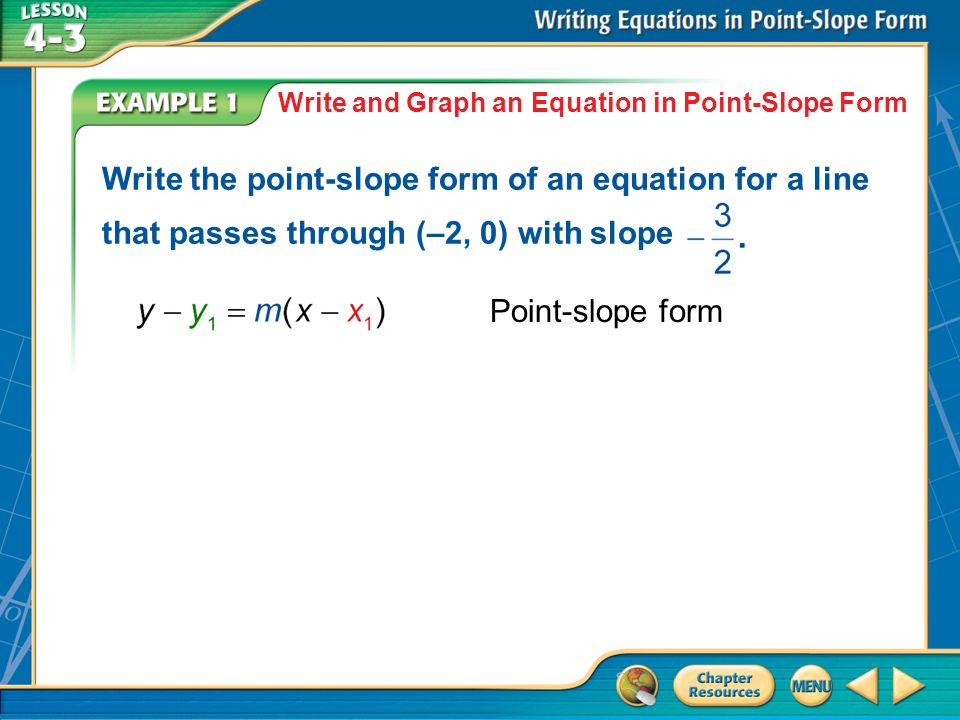 Write equations of lines in point-slope form. - ppt video online ...