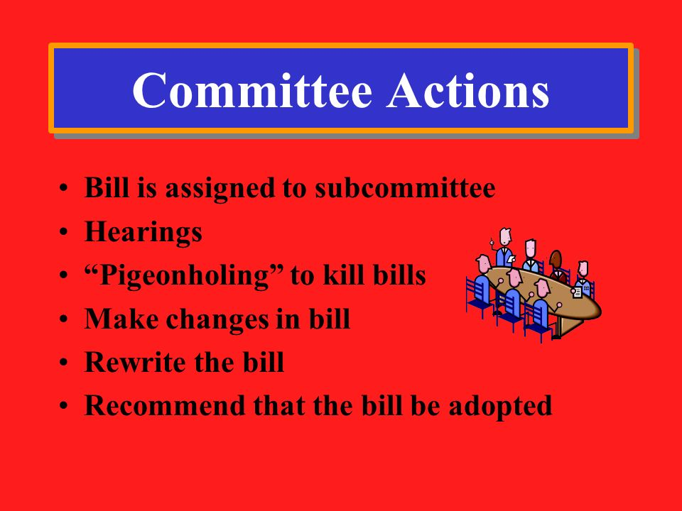 Committee Actions Bill is assigned to subcommittee Hearings