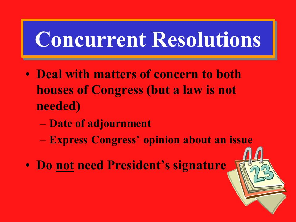 Concurrent Resolutions