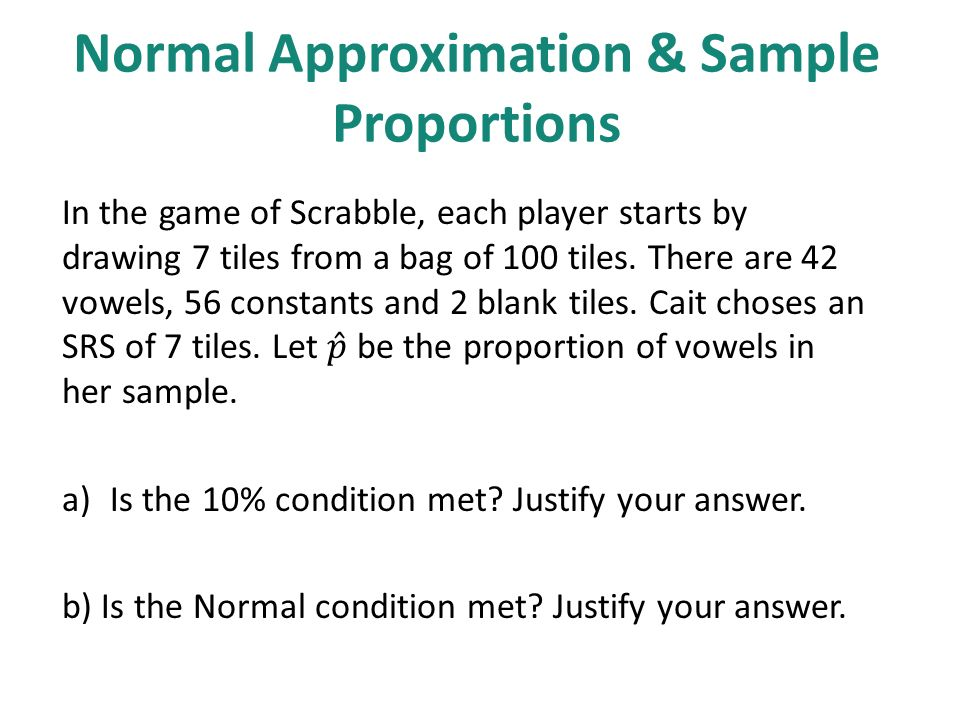 7.2: Sample Proportions. - ppt download