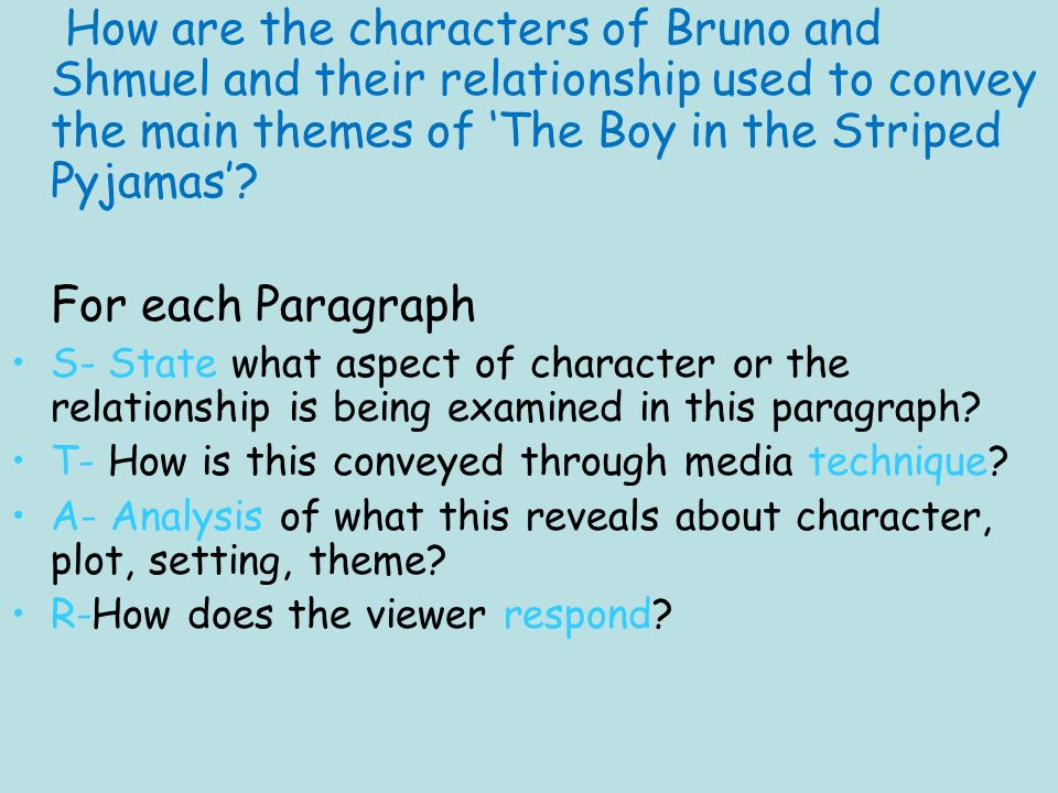 starter task think back to watching the boy in the striped  51 how