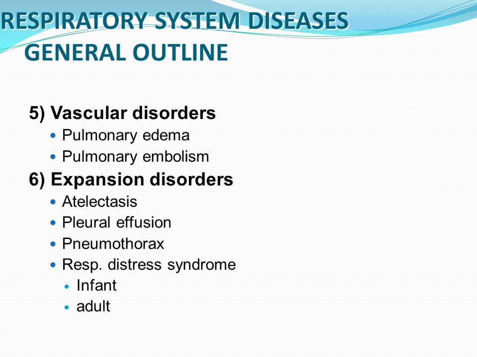 respiratory diseases and disorders pdf