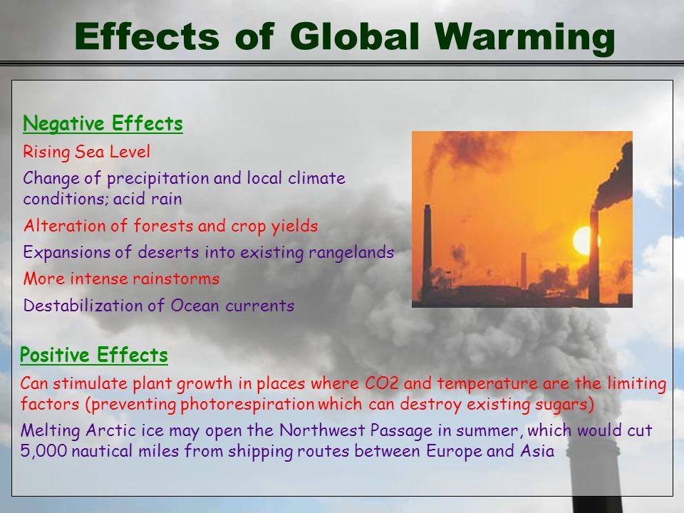 the effect of global warming and climate change Temperature change itself isn't the only severe effect of changing climate both climate change and global warming are still a reality.