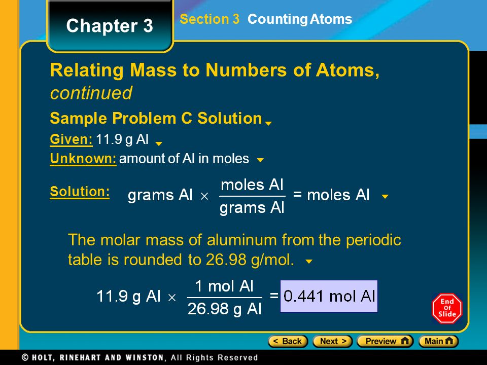 molar mass of aluminum Explanation of how to find the molar mass of al(no3)3 (aluminum nitrate) a few things to consider when finding the molar mass for al(no3)3: - make sure you have the correct chemical formula.