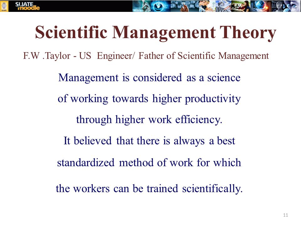 scientific management a 19th century concept Scientific management is  a number of more or less separate schools of management thought have emerged since the end  of the 19th century and each sees management.
