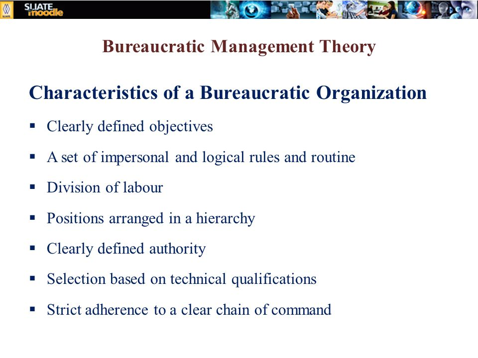 Principles of management and applied economics ppt video for 6 characteristics of bureaucracy