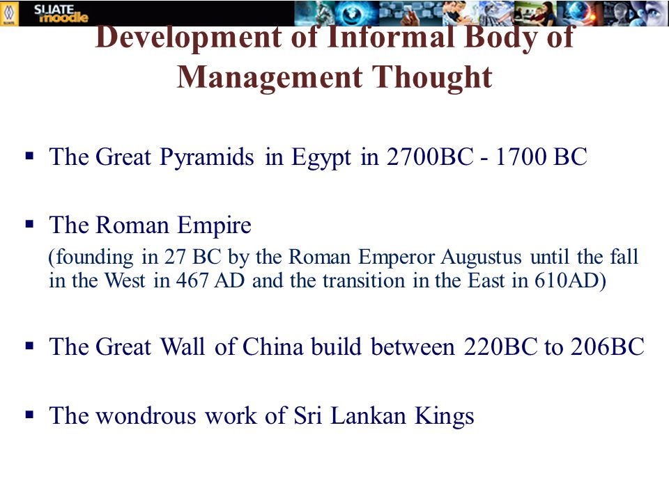 Development of Informal Body of Management Thought