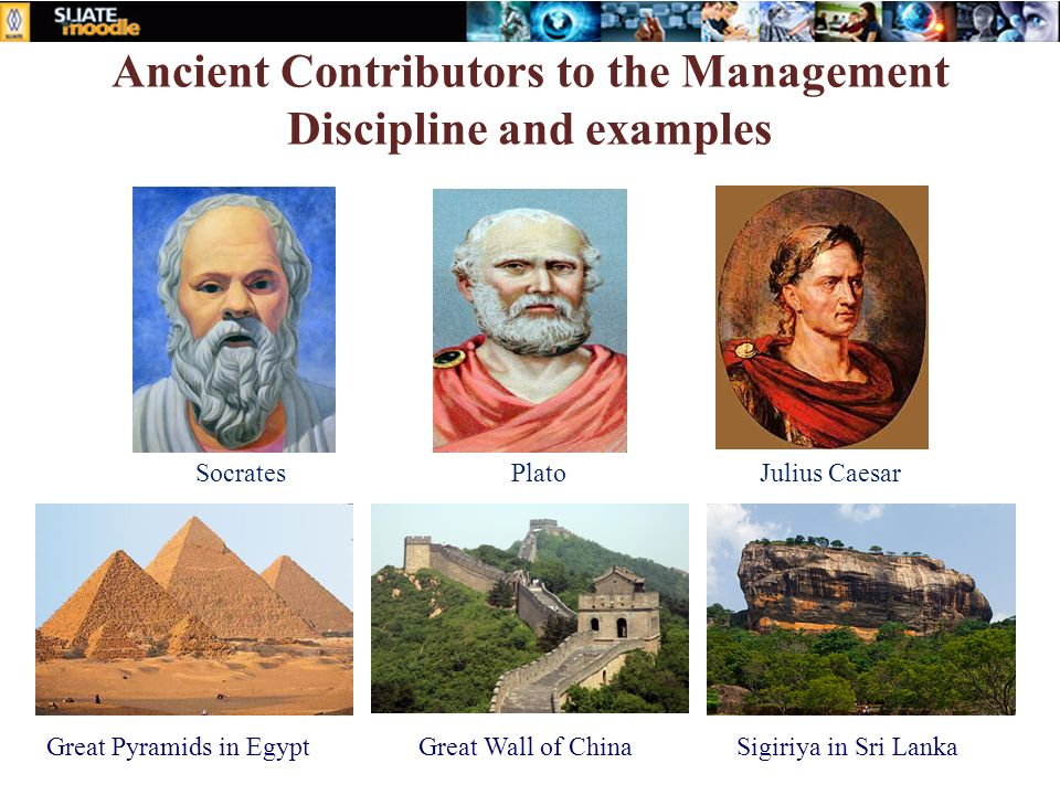 Ancient Contributors to the Management Discipline and examples