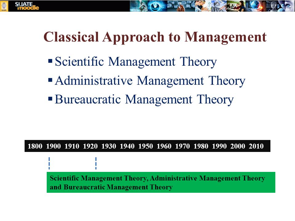 the ideas of the classical theorists particularly those of bureaucracy and scientific management ess The characteristics of a bureaucracy include: 1) a well-defined formal hierarchy and chain of command 2) management by rules and regulations 3) division of labor and work specialization 4) managers should maintain an impersonal relationship with employees 5) competence, not personality, is the basis for job appointment and 6) formal written.