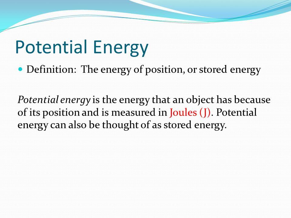 define potential energy ace energy