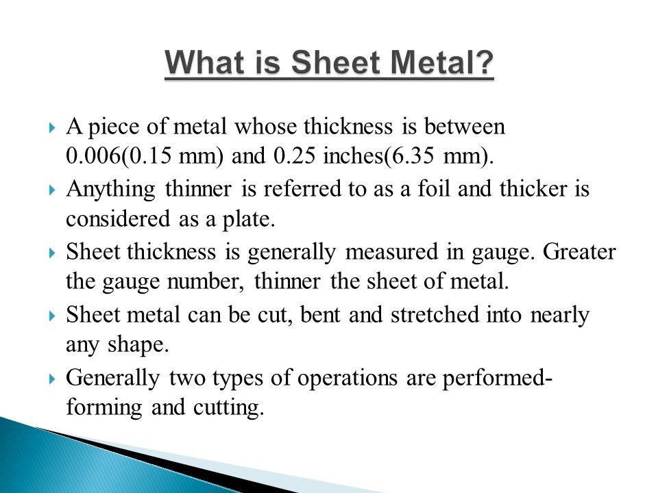Sheet Metal Gauge To Mm Erkalnathandedecker