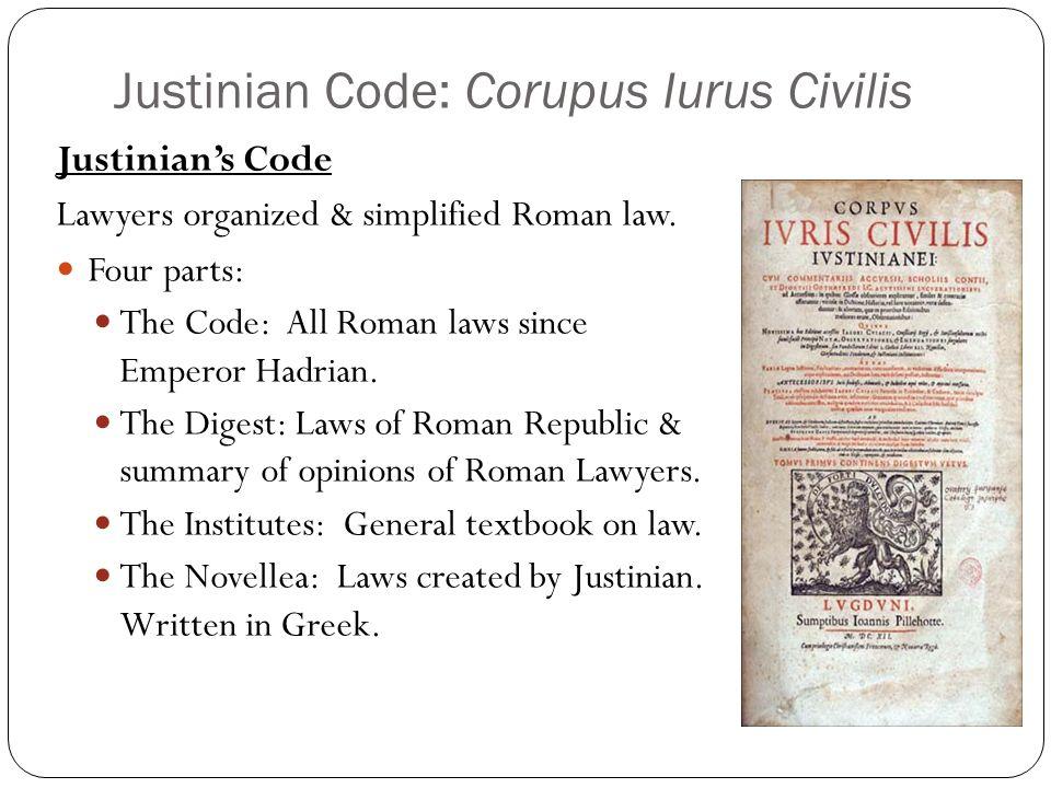 Summary Of Justinian Code – Justinian Code Worksheet