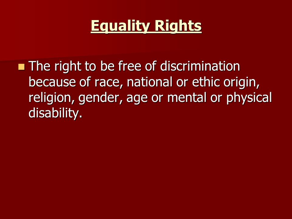 Equality Rights