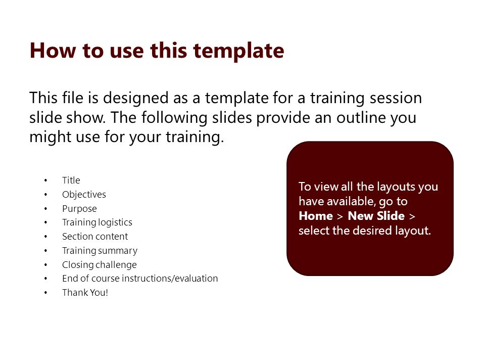 InstructorLed Template  Ppt Download