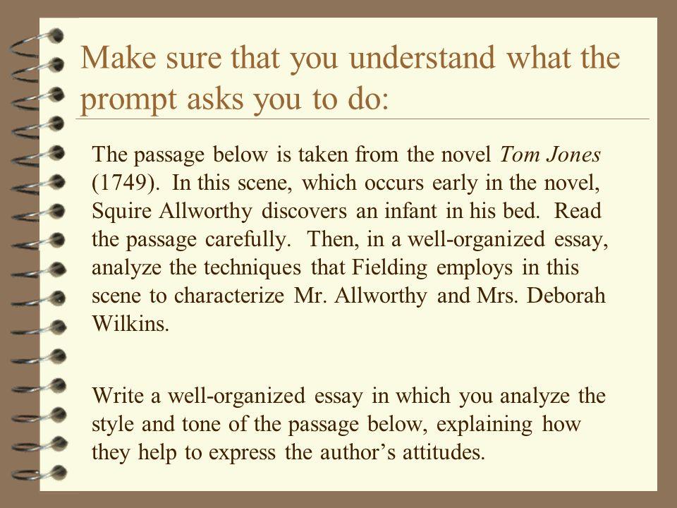 generic novel essay prompts