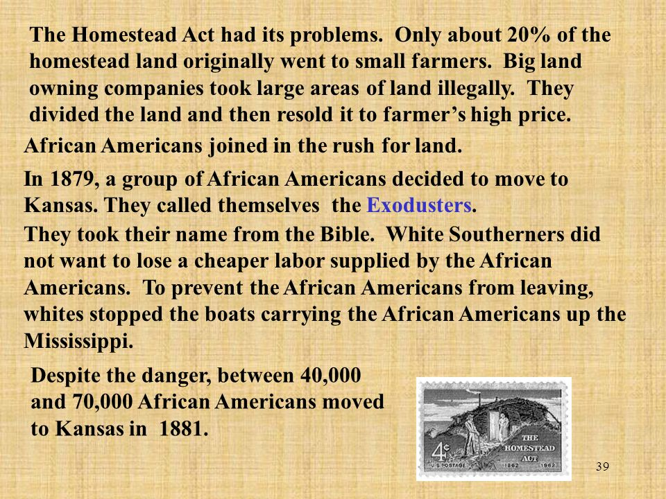 The west transformed ppt download for Kansas homestead act