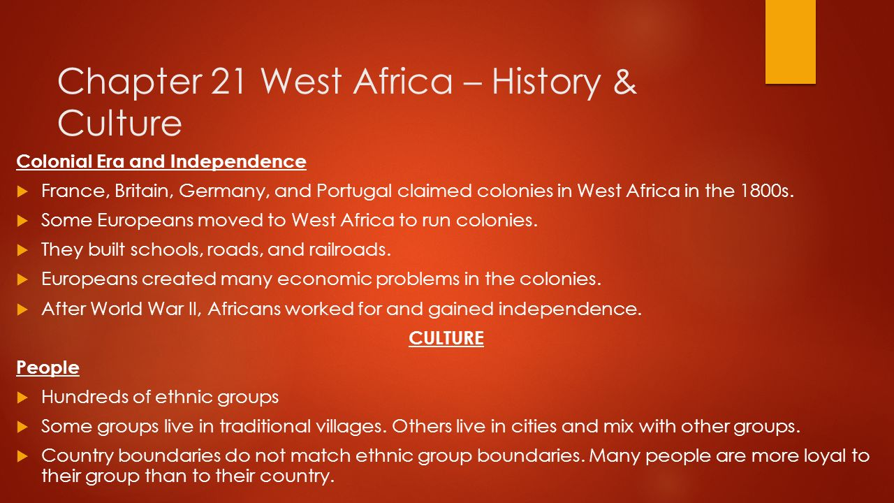 Pre ap geography november 17th 25th ppt download chapter 21 west africa history culture sciox Gallery