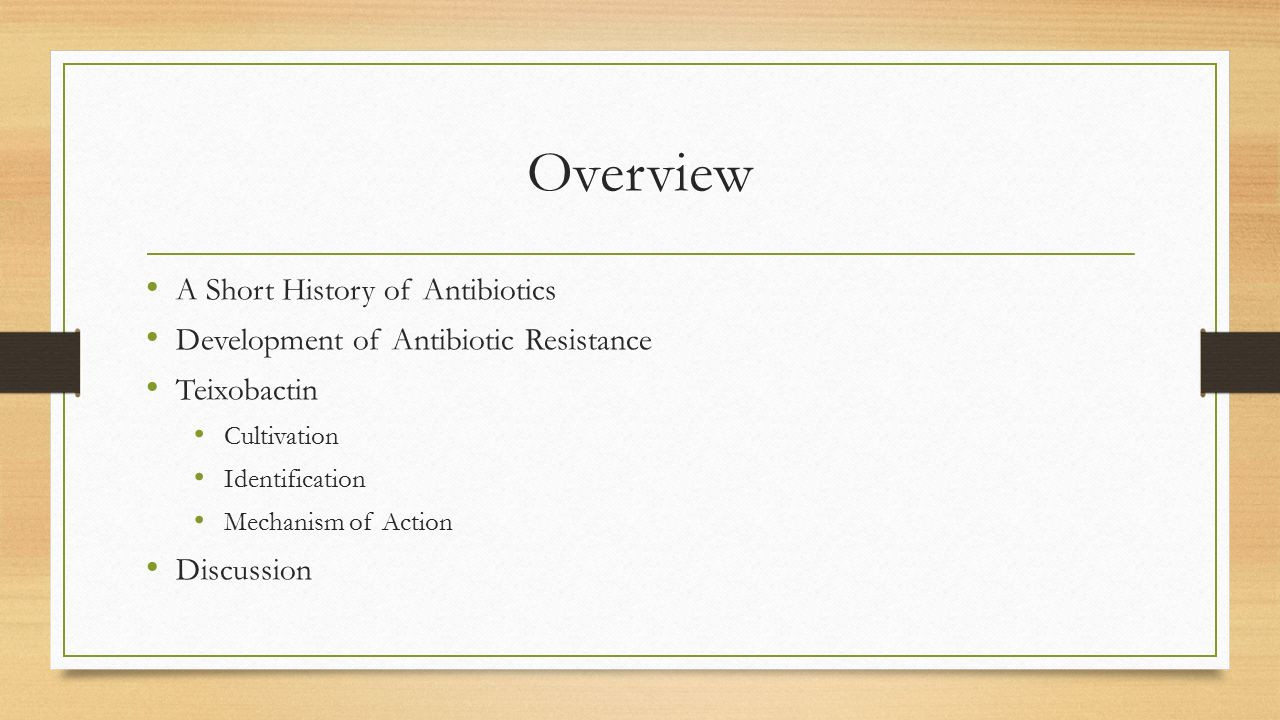 a history of antibiotic The history of antibiotics antibiotics have been used for millennia to treat infections, although until the last century or so people did not know the infections were caused by bacteria.