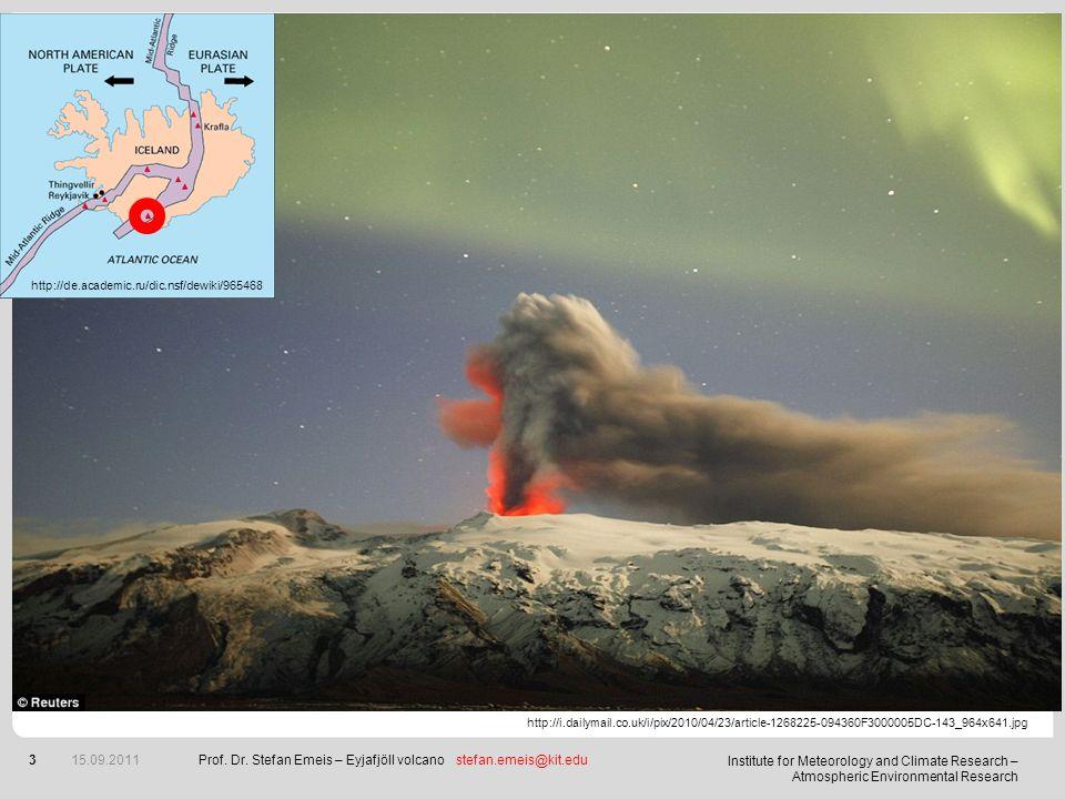 Prof. Dr. Stefan Emeis – Eyjafjöll volcano stefan.emeis@kit.edu